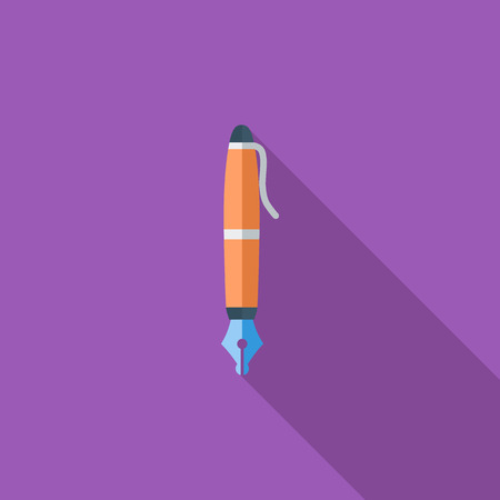 writing instruments: Notes icon. Flat vector related icon with long shadow for web and mobile applications.  Illustration