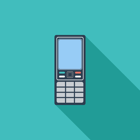 keypad: Phone icon. Flat vector related icon with long shadow for web and mobile applications.