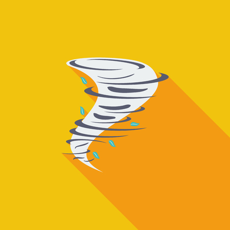 windstorm: Tornado icon. Flat vector related icon with long shadow for web and mobile applications.