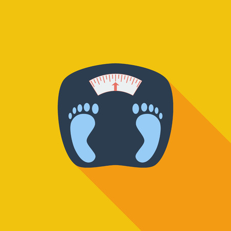 fat: Weights icon. Flat vector related icon with long shadow for web and mobile applications. Illustration