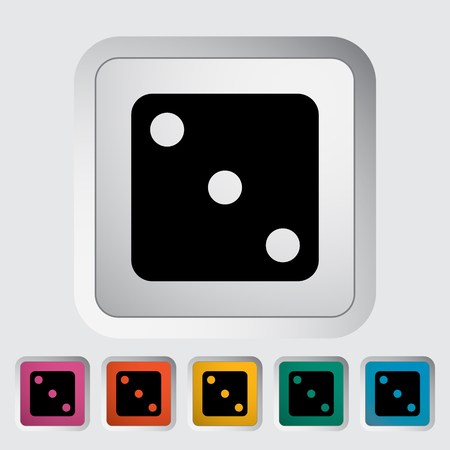 las vegas metropolitan area: Craps. Single flat icon on the button. Vector illustration.