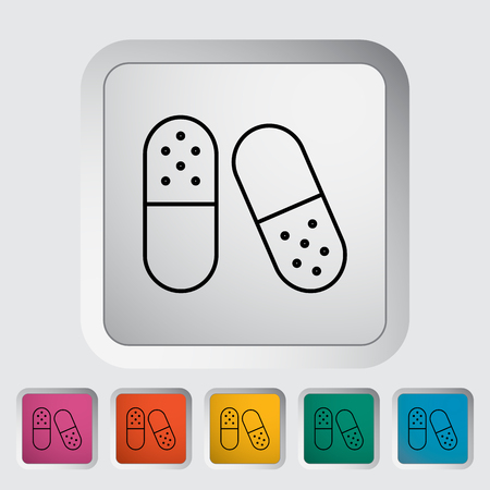 doctor tablet: Pills icon. Line flat vector related icon for web and mobile applications.
