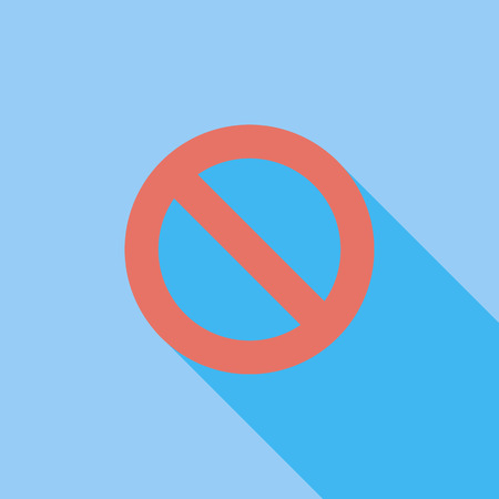 restrictive: Prohibition icon. Flat vector related icon with long shadow for web and mobile applications