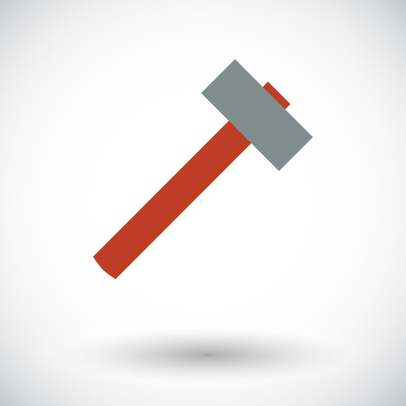 disruption: Hammer. Flat vector icon for mobile and web applications. Vector illustration. Illustration