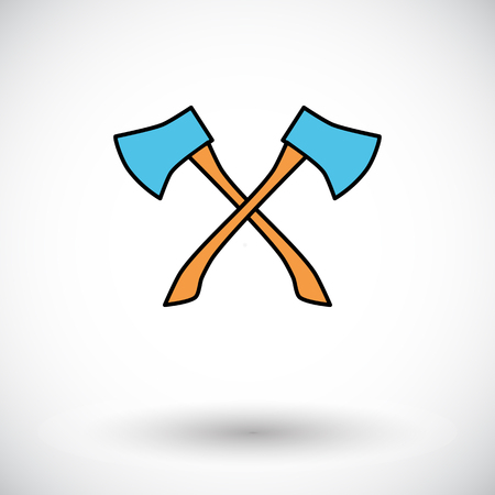 construction equipment: Axe. Flat icon on the white background for mobile and web applications. Vector illustration. Illustration