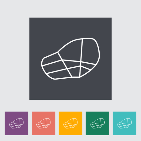 restraining: Muzzle icon. Line flat vector related icon for web and mobile applications. It can be used as - logo, pictogram, icon, infographic element. Vector Illustration.