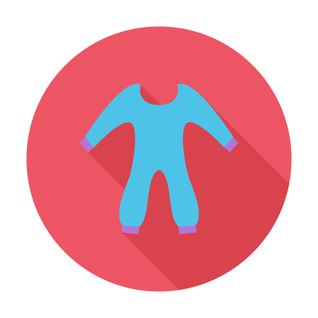 Baby clothes icon. Flat vector related icon with long shadow for web and mobile applications. It can be used as - logo, pictogram, icon, infographic element. Vector Illustration.