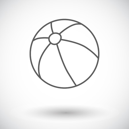 beachball: Beach ball icon. Thin line flat vector related icon for web and mobile applications.
