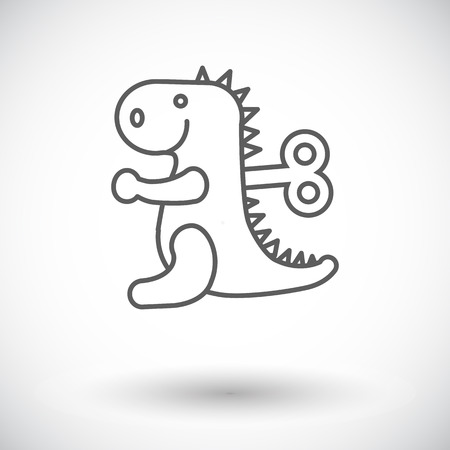 animated alien: Dinosaurus icon. Thin line flat vector related icon for web and mobile applications