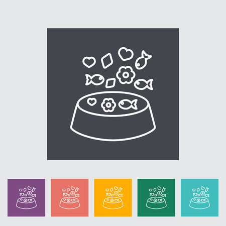 animal related: Animal bowl icon. Line flat vector related icon for web and mobile applications