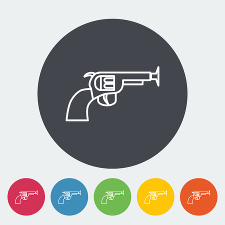 space wars: Gun toy icon. Thin line flat vector related icon for web and mobile applications.