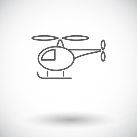 flight mode: Helicopter icon. Thin line flat vector related icon for web and mobile applications. Illustration