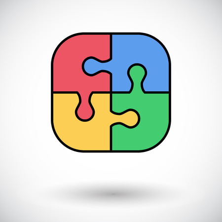 medium group of people: Puzzle icon. Flat vector related icon for web and mobile applications Illustration