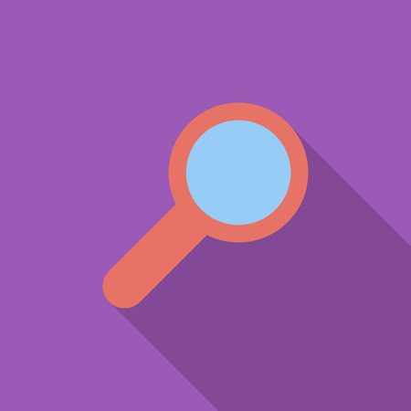 search icon: Search icon. Flat vector related icon with long shadow for web and mobile applications