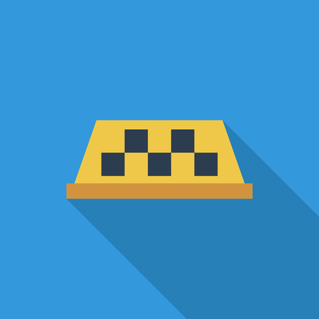 yellow taxi: Taxi icon. Flat vector related icon with long shadow for web and mobile applications.