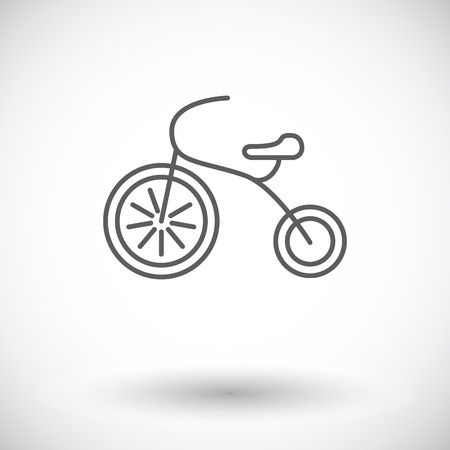 tricycle: Tricycle icon. Thin line flat vector related icon for web and mobile applications.