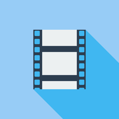 videotape: Videotape icon. Flat vector related icon with long shadow for web and mobile applications. Illustration