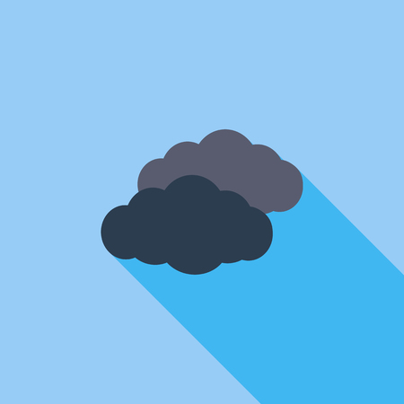 overcast: Overcast icon. Illustration
