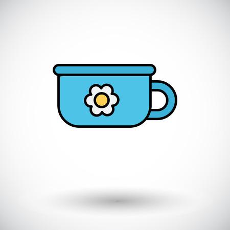 piddle: Potty icon.  Illustration