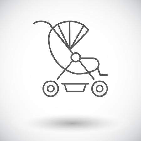 suckling: Pram icon.  Illustration