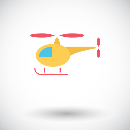 transposition: Helicopter icon.  Illustration