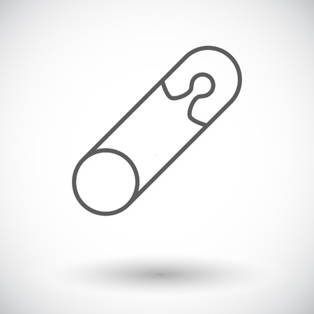 single entry: Safety pin icon. Thin line flat vector related icon for web and mobile applications. It can be used as - logo, pictogram, icon, infographic element. Vector Illustration. Illustration