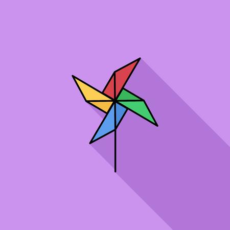 perinola: Icono de la perinola. Vector plana icono relacionado con la larga sombra para web y aplicaciones m�viles. Se puede utilizar como - logotipo, pictograma, icono, elemento de infograf�a. Ilustraci�n del vector.