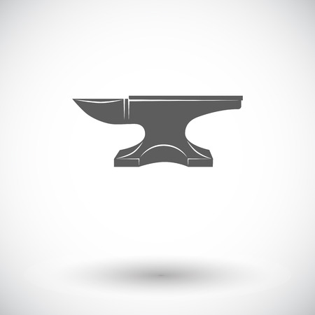 anvil: Anvil. Single flat icon on white background. Vector illustration.