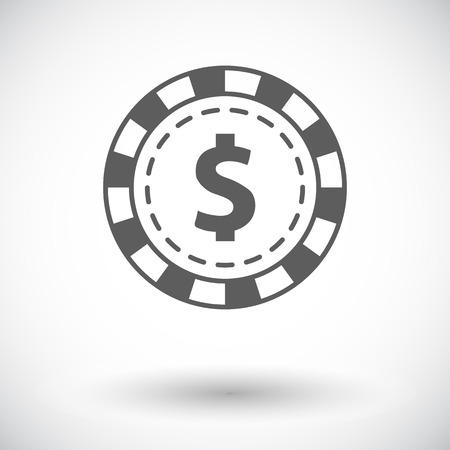 wheel of fortune: Gambling chips. Single flat icon on white background. Vector illustration.