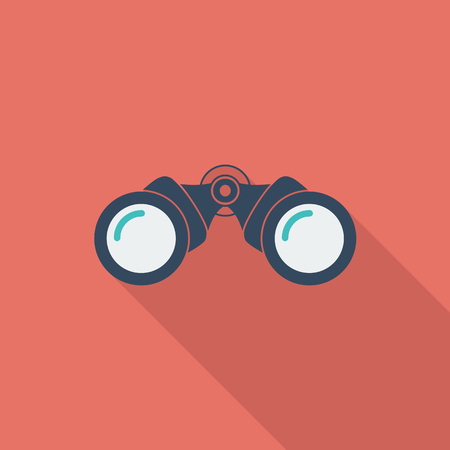 Binoculars icon. Flat vector related icon with long shadow for web and mobile applications. It can be used as - logo, pictogram, icon, infographic element. Vector Illustration.