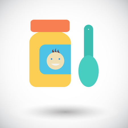 drink cartoon: Baby food icon. Flat vector related icon for web and mobile applications. It can be used as - logo, pictogram, icon, infographic element. Vector Illustration. Illustration