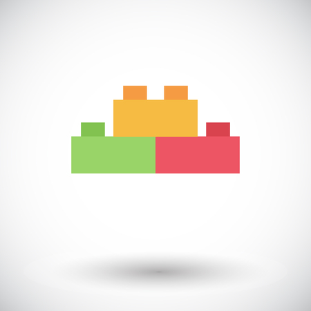 edifice: Building block icon. Flat vector related icon for web and mobile applications. It can be used as - logo, pictogram, icon, infographic element. Vector Illustration.