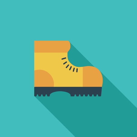 Hiking shoes icon. Flat vector related icon with long shadow for web and mobile applications. It can be used as - logo, pictogram, icon, infographic element. Vector Illustration.