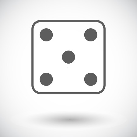 craps: Craps. Single flat icon on white background. Vector illustration.
