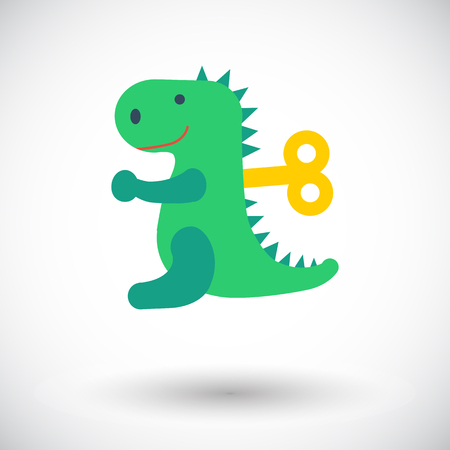 animated alien: Dinosaurus toy icon. Flat vector related icon for web and mobile applications. It can be used as - logo, pictogram, icon, infographic element. Vector Illustration.