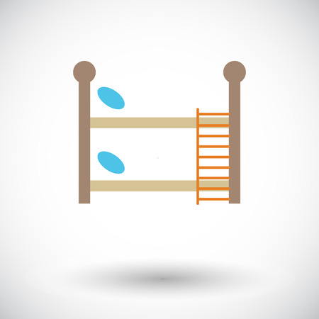 letto a castello: Bunk bed icon. Flat vector related icon for web and mobile applications. It can be used as - logo, pictogram, icon, infographic element. Vector Illustration.