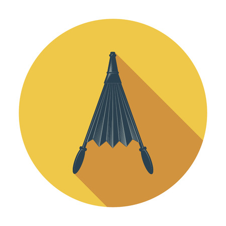 fireplace bellows: Belows. Flat icon for mobile and web applications. Vector illustration.