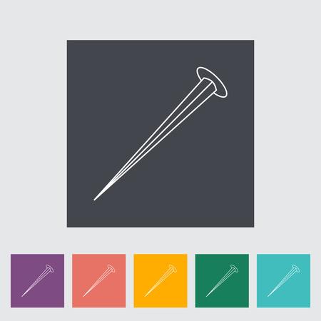chrome man: Hobnail. Single flat icon on the button. Vector illustration. Illustration