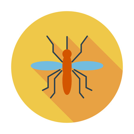 infect: Mosquito. Flat vector icon for mobile and web applications. Vector illustration.