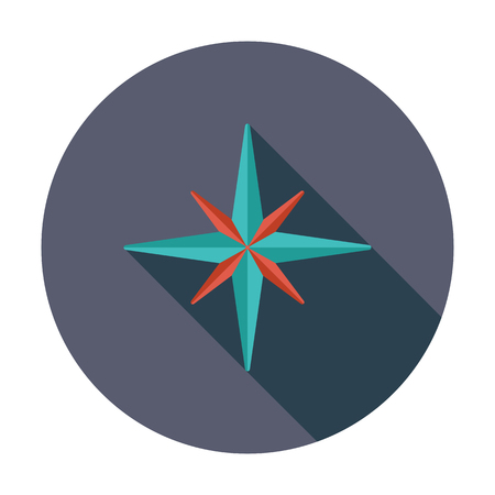 Wind rose. Flat vector icon for mobile and web applications. Vector illustration.