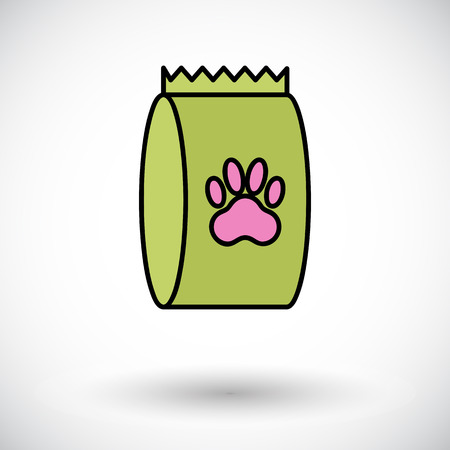 petshop: Pet food bag icon. Flat vector related icon for web and mobile applications. It can be used as - logo, pictogram, icon, infographic element. Vector Illustration. Illustration