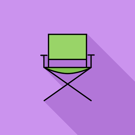 displaced: Camping chair icon. Flat vector related icon with long shadow for web and mobile applications. It can be used as - logo, pictogram, icon, infographic element. Vector Illustration.