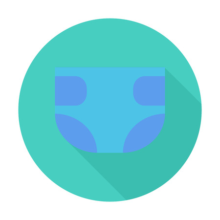 pampers: Diaper icon. Flat vector related icon with long shadow for web and mobile applications. It can be used as - logo, pictogram, icon, infographic element. Vector Illustration.