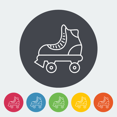 roller skate: Roller skate icon. Thin line flat vector related icon for web and mobile applications. It can be used as - logo, pictogram, icon, infographic element. Vector Illustration. Illustration