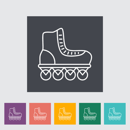 rollerskate: Roller skate thin line flat vector related icon set for web and mobile applications. It can be used as - logo, pictogram, icon, infographic element. Vector Illustration. Illustration