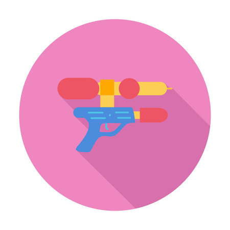 futuristic pistol: Gun toy icon. Flat vector related icon with long shadow for web and mobile applications. It can be used as - logo, pictogram, icon, infographic element. Vector Illustration. Illustration