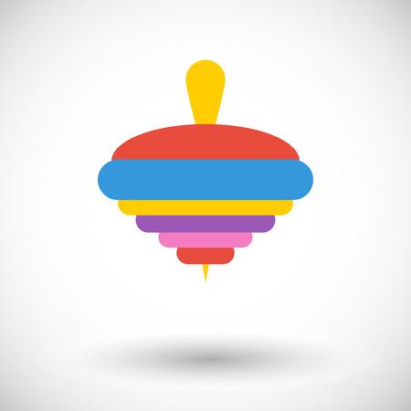perinola: Icono de la perinola. Vector plana icono relacionado para web y aplicaciones m�viles. Se puede utilizar como - logotipo, pictograma, icono, elemento de infograf�a. Ilustraci�n del vector.