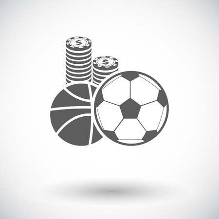 wagers: Sport games. Single flat icon on white background. Vector illustration.