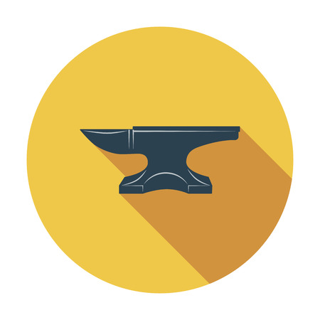 cast iron: Anvil. Flat icon for mobile and web applications. Vector illustration.