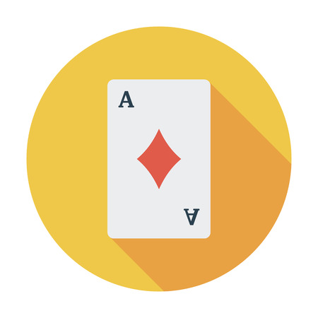 play card: Play card. Flat vector icon for mobile and web applications. Vector illustration.